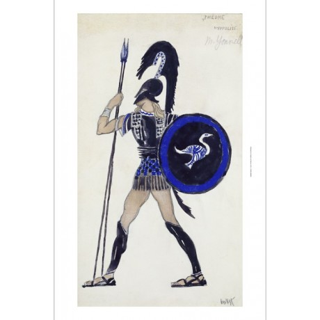 LEON BAKST Costume Design for Phaedre Hippolitus CANVAS various SIZES, BRAND NEW