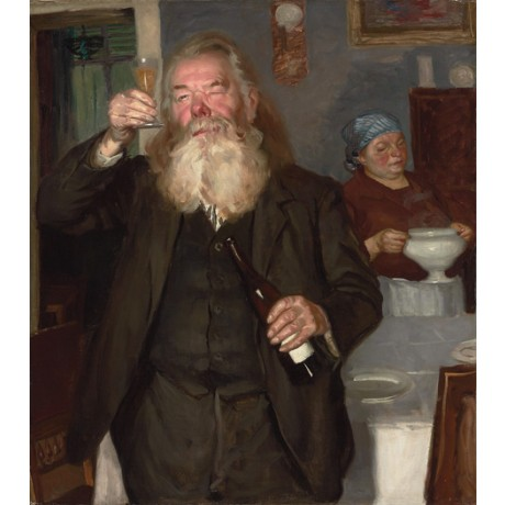 "RUSSIAN SCHOOL ""The Connoisseur"" wine tasting CANVAS various SIZES available"