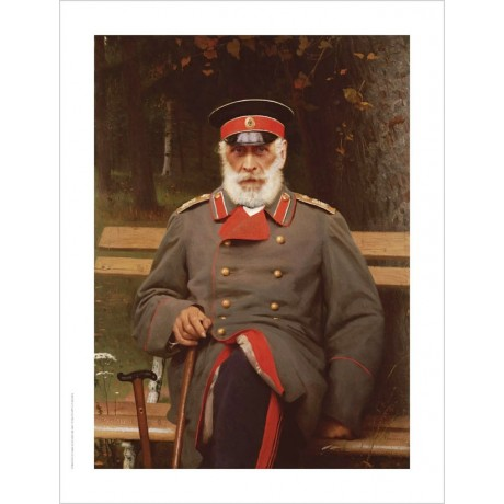 IVAN NIKOLAEVICH KRAMSKOI Military Portrait PRINT new various SIZES, BRAND NEW