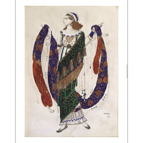 "LEON BAKST ""Costume Design for Cleopatra"" new CANVAS! various SIZES, BRAND NEW"