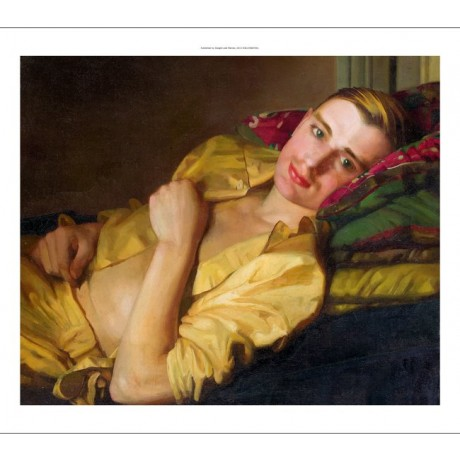 "KONSTANTIN ANDREEVICH SOMOV ""A Reclining Man"" CANVAS various SIZES available"