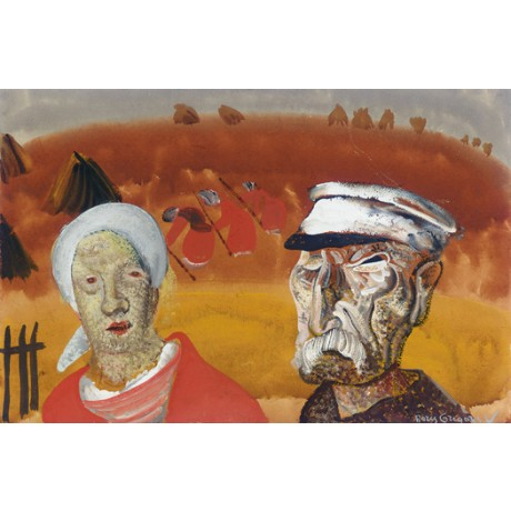 "BORIS GRIGOR'EV ""Workers in the Fields"" farmer CANVAS various SIZES, BRAND NEW"