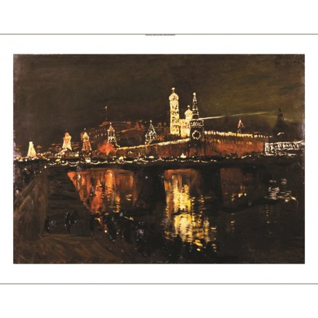 "ISAAC ILICH LEVITAN ""Illumination Of Kremlin"" ON CANVAS various SIZES, BRAND NEW"