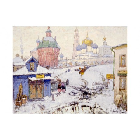 "KONSTANTIN IVANOVICH GORBATOV ""Townscape In Winter"" NEW various SIZES, BRAND NEW"