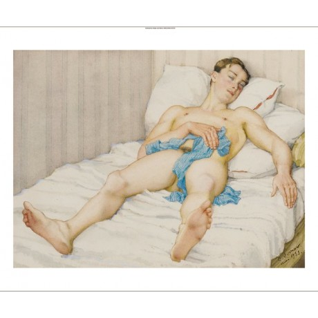"KONSTANTIN ANDREEVICH SOMOV ""The Slumber"" nude male various SIZES available"