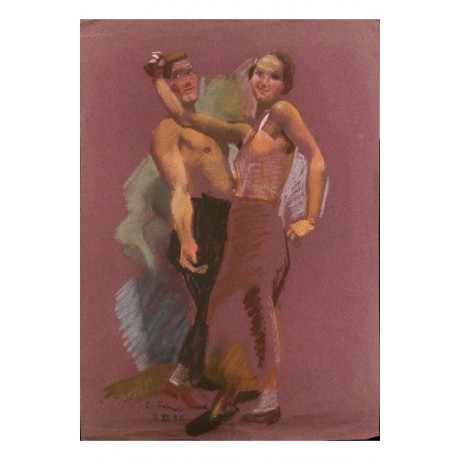 "KONSTANTIN ANDREEVICH SOMOV ""A Dancing Couple"" CANVAS various SIZES, BRAND NEW"