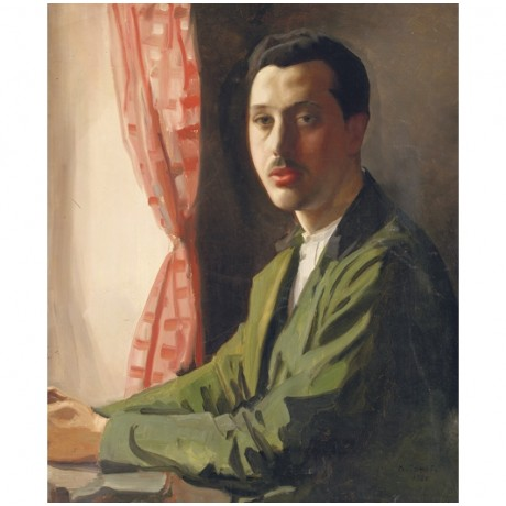 "KONSTANTIN SOMOV ""Portrait of Young Man with Moustache"" various SIZES, BRAND NEW"