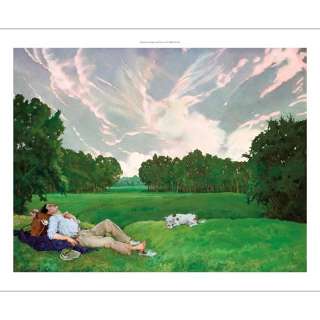 "KONSTANTIN SOMOV ""The Stroller's Rest"" hiker dog CANVAS various SIZES, BRAND NEW"