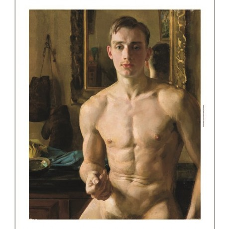 "KONSTANTIN ANDREEVICH SOMOV ""The Boxer"" nude male choose SIZE, from 55cm up, NEW"