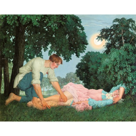 "KONSTANTIN SOMOV ""Pastorale Russe"" man woman CANVAS various SIZES available, NEW"