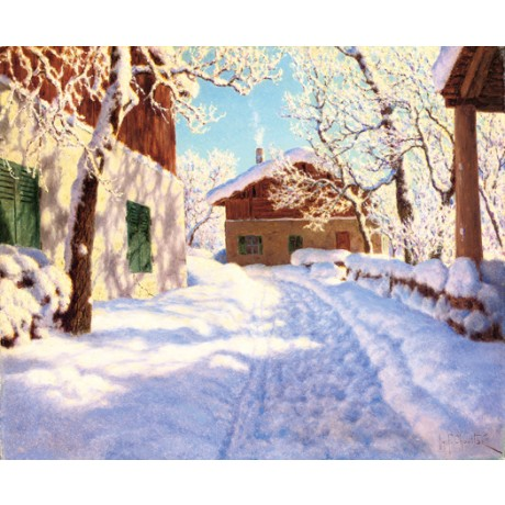 "IVAN FEDOROVICH SHUL'TSE ""First Snow"" village CANVAS various SIZES available"