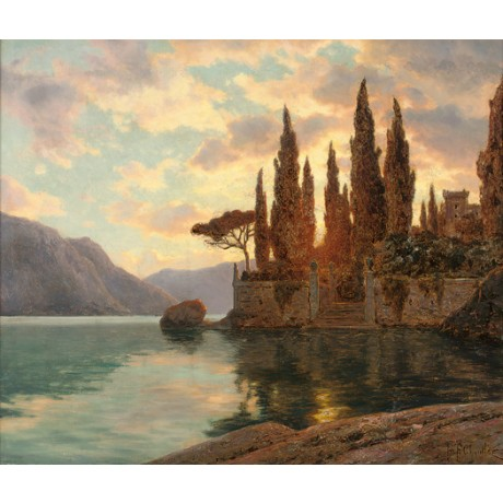 "IVAN FEDOROVICH SHUL'TSE ""Lago Maggiore"" lake italy various SIZES available, NEW"