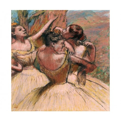 "EDGAR DEGAS ""Three Dancers"" music portrait ON CANVAS various SIZES available"