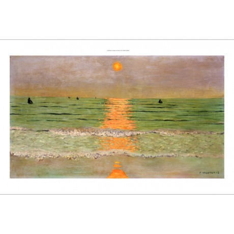 "FELIX VALLOTTON ""Sunset"" Seascape print NEW choose SIZE, from 55cm upwards, NEW"