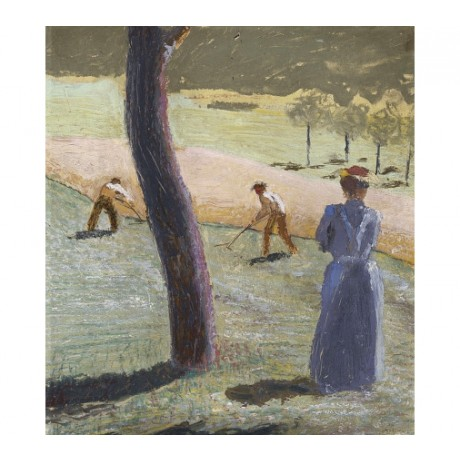 "AUGUST MACKE ""Workers In A Field At Kandern"" ON CANVAS! various SIZES, BRAND NEW"