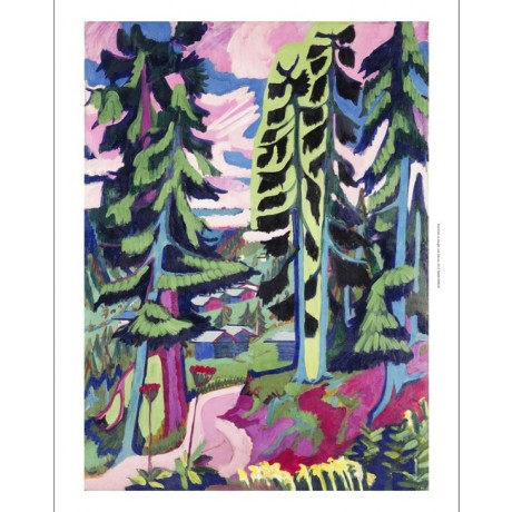 ERNST LUDWIG KIRCHNER Wild Mountain (Mountain Forest; Summer Forest) pine NEW!