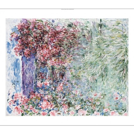 "CLAUDE MONET ""House In Roses"" Art CANVAS EDITION choose SIZE, from 55cm up, NEW"