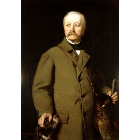 "OTTO HENRICH HEYDEN ""Otto von BISMARK in Hunting Clothes"" pet NEW CANVAS PRINT!"