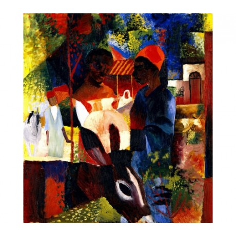 "AUGUST MACKE ""A Market In Tunis""Traditional Print NEW various SIZES, BRAND NEW"