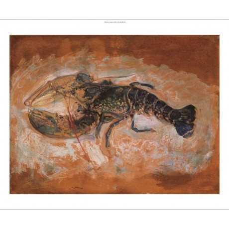 "HENRI LEBASQUE ""L'homard"" lobster still life CANVAS various SIZES available, NEW"