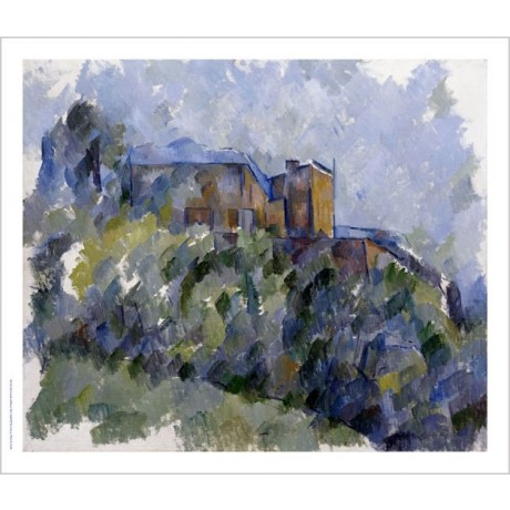 "PAUL CEZANNE ""Black House"" Art CANVAS EDITION choose your SIZE, 55cm to X LARGE"