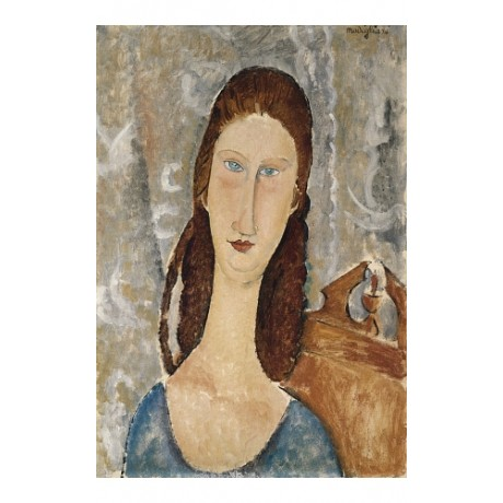 "AMEDEO MODIGLIANI ""Portrait De Jeanne Hebuter"" CANVAS! various SIZES, BRAND NEW"