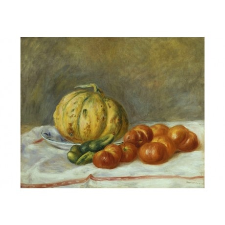 "PIERRE-AUGUSTE RENOIR ""Melon And Tomatoes"" CANVAS PRINT various SIZES, BRAND NEW"
