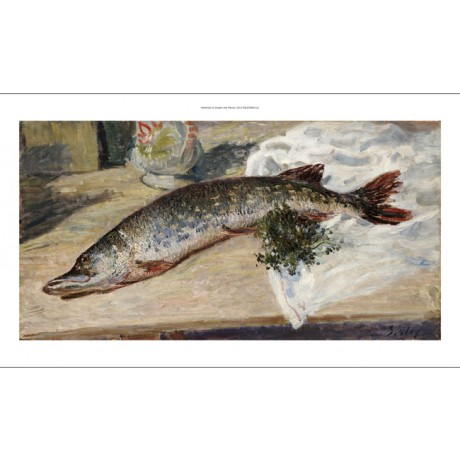 "ALFRED SISLY ""Pike"" Still Fish Art CANVAS EDITION choose SIZE, from 55cm up, NEW"