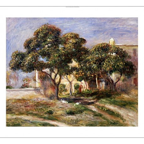 "PIERRE-AUGUSTE RENOIR ""Medlar Trees"" Landscape Print various SIZES available"