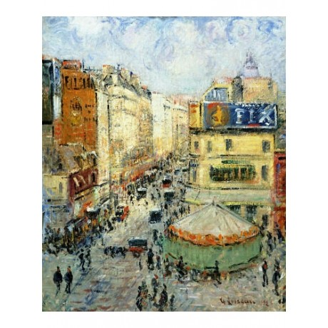 "GUSTAVE LOISEAU ""La Rue De Clignancourt"" Paris PRINT various SIZES available"