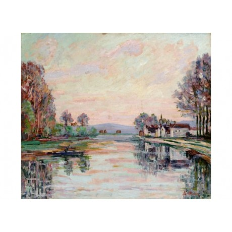"ARMAND GUILLAUMIN ""Seine At Samois"" PRINT CANVAS choose SIZE, from 55cm up, NEW"