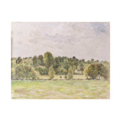 "CAMILLE PISSARRO ""Eragny Evening. Soir"" CANVAS PRINT! various SIZES, BRAND NEW"
