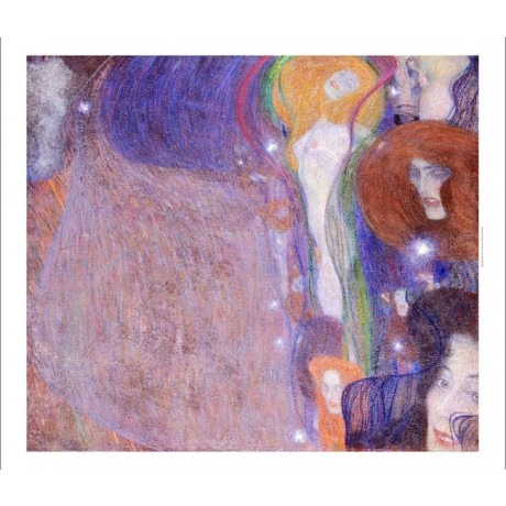 "GUSTAV KLIMT ""Will-O'-Wisps"" Nude CANVAS ART ! choose SIZE, from 55cm up, NEW"