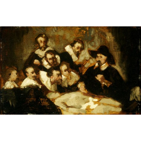 """EDOUARD MANET """"Anatomy Lesson"""" Art CANVAS EDITION choose SIZE, from 55cm up, NEW"""
