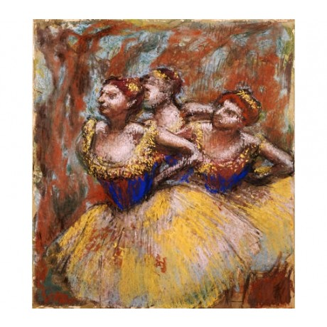 "EDGAR DEGAS ""Three Dancers"" Art CANVAS EDITION choose SIZE, from 55cm up, NEW"
