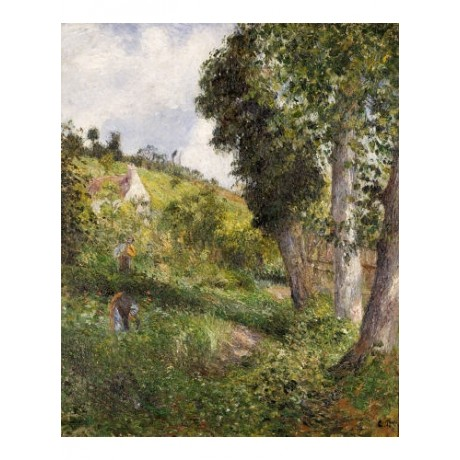 "CAMILLE PISSARRO ""Landscape 'With Cabbage"" PRINT choose SIZE, from 55cm up, NEW"
