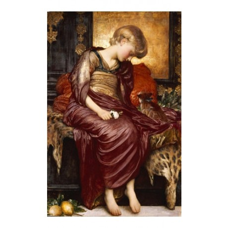 "FREDERIC, LORD LEIGHTON ""Kittens"" CANVAS ART ! choose SIZE, from 55cm up, NEW"