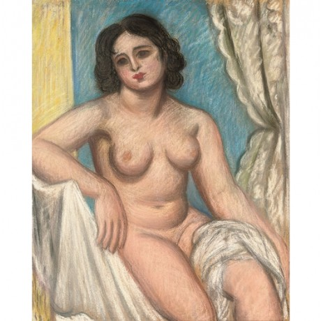 "MARK GERTLER ""Seated Nude Celia Dennis"" woman CANVAS various SIZES available"