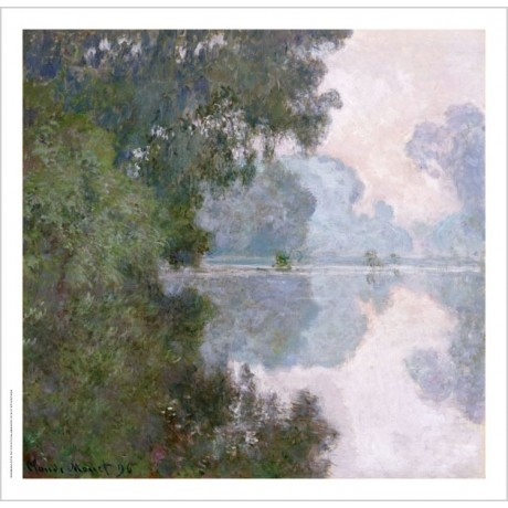 "CLAUDE MONET ""Morning On Seine, Near Giverny"" ON CANVAS various SIZES, BRAND NEW"
