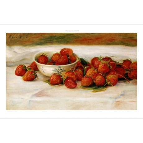 "PIERRE-AUGUSTE RENOIR ""Strawberries"" CANVAS ART ! choose SIZE, from 55cm up, NEW"