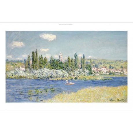 "CLAUDE MONET ""Vetheuil"" Art CANVAS EDITION choose SIZE, from 55cm upwards, NEW"