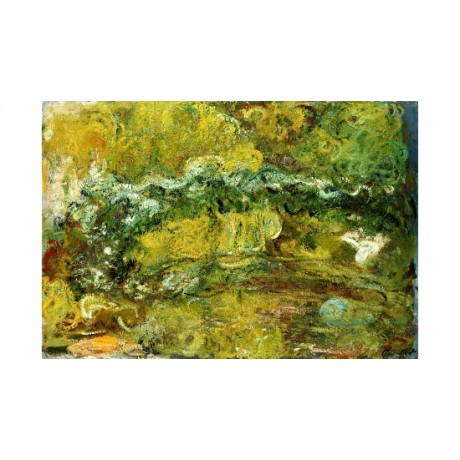 "CLAUDE MONET ""Japanese Bridge"" Art CANVAS EDITION choose SIZE, from 55cm up, NEW"