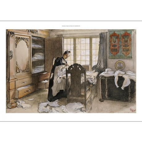 "CARL LARSSON ""Karin By Linen Cupboard"" CANVAS ART ! various SIZES available, NEW"