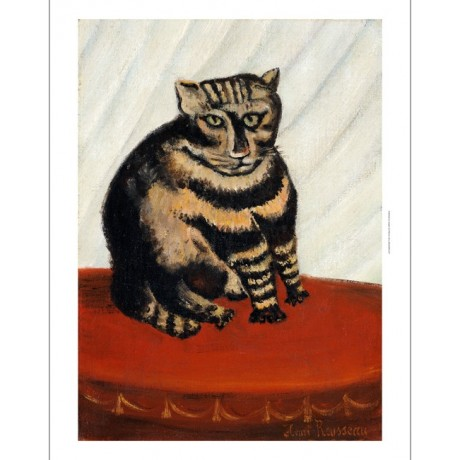 "HENRI 'LE DOUANIER' ROUSSEAU ""Tabby"" Cat print NEW choose SIZE, from 55cm up"