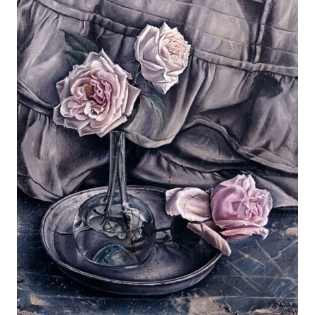 FRANCOIS BARRAUD Three Roses LOSS condolences pink melancholy NEW CANVAS PRINT