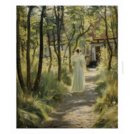 "PEDER SEVERIN KROYER ""Marie In Garden"" CANVAS ART ! various SIZES available, NEW"