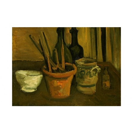 VINCENT VAN GOGH Paintbrushes In A Flowerpot PRINT new various SIZES, BRAND NEW