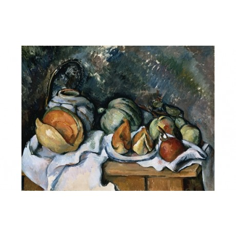 "PAUL CEZANNE ""Fruits And A Ginger Pot"" CANVAS PRINT! various SIZES available"
