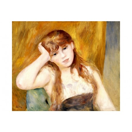"PIERRE-AUGUSTE RENOIR ""Jeune Fille Blonde"" ON CANVAS various SIZES available"