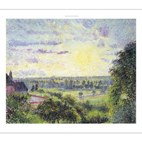 "CAMILLE PISSARRO ""Sunset At Eragny"" Art CANVAS EDITION various SIZES, BRAND NEW"